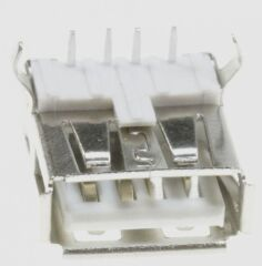 CHASSIS-USB TYPE-A 0° SOUDABLE, S'ADAPTE À LA PLATINE