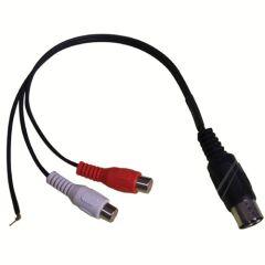 Câble audio 5 broches DIN vers 2x RCA femelle + fiche terre