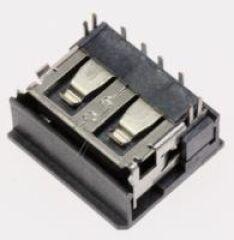 JACK-USB;4P/1C,AU,BLK,ANGLE,A