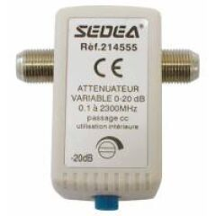 ATTENUATEUR VARIABLE 0-20DB ( ,1-2300 MHZ)