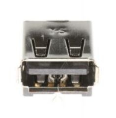 EMBASE USB:4P/1C,AU,NOIR,ANGLEA TYPE