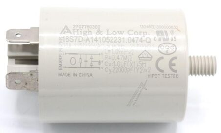 FP250/16 FILTRE ANTIPARASITES 1MF + 2 X 0,022MF