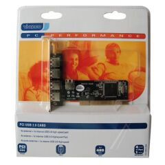 IO 4+1 USB2-N PCI USB 2.0 PC-CARTE,4 EXTERNE+1 INTERNER USB 2.0 PORT