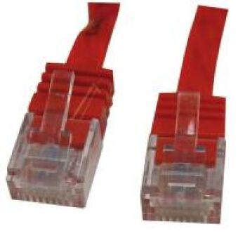 CAT6 CABLE UTP SLIM , ROUGE, 3,0MTR.