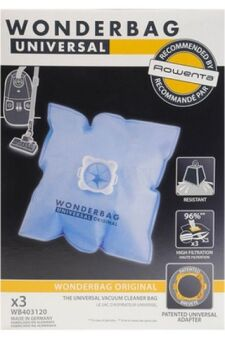 (x5) Sac Aspirateur Wonderbag Universal (Moulinex Compacteo Ergo / Rowenta Silence Force...) WB406120