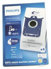 4 Sacs aspirateur S-Bag pour aspirateur Philips Power / Mobilo / Performer (FC802103)