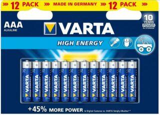 PILE 1,5V ALCALINE MICRO (AAA) BATTERIES HIGH ENERGY, 12 PI?CES