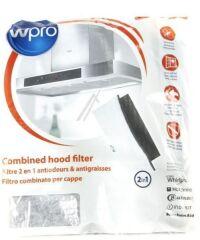 Filtre graisse/charbon 2 en 1 pour hotte aspirante Whirlpool - 484000008524