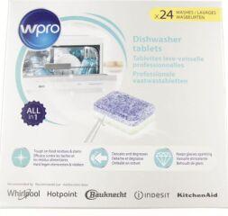 24x Pastilles/Tablettes Lave Vaisselle Professionnelles Tout en 1 - WPRO