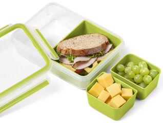 CLIP & GO SNACK Boîte de conservation des aliments  rectangulaire 1.0L
