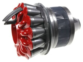 CYCLONE DC33C ORIGIN PLUS IRON/BRIGHT SILVER/MOULDED RED