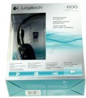 LOGITECH H600 CORDLESS HEADSET USB-NANO-RECEIVER BLUE BLACK