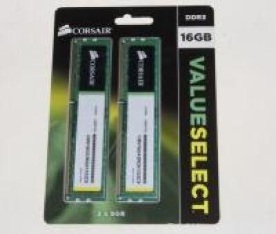 DDR3 16GB KIT(2X8GB) PC3-10667U CL9 CORSAIR VALUESELECT