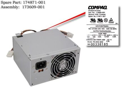 adaptable sur COMPAQ  POWERSUPPLY 145W