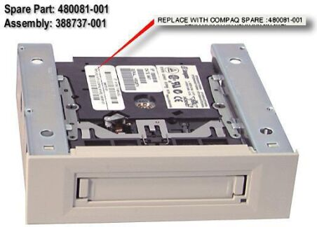 COMPAQ 10/20GB TRAVAN-5 TAPE DRIVE