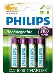 Piles rechargeables Philips AA LR6 (blister de 4) - 392813